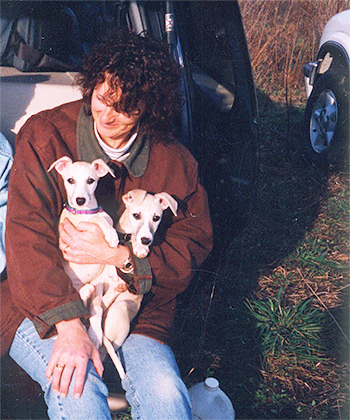 Iva with puppies